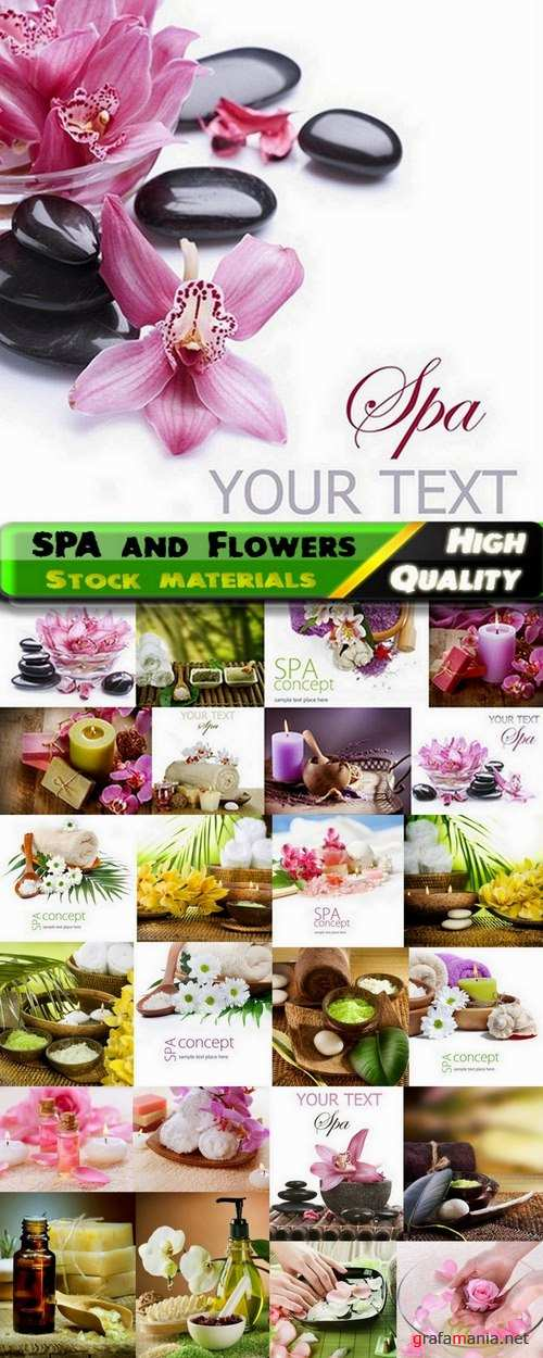 SPA and Flowers Stock Images - 25 HQ Jpg
