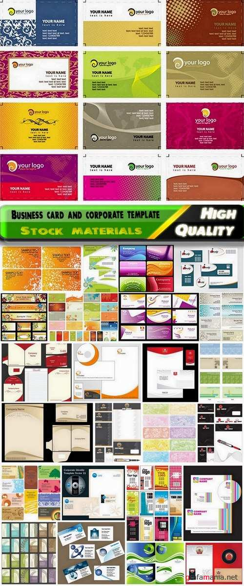 Business card and corporate template design - 25 Eps