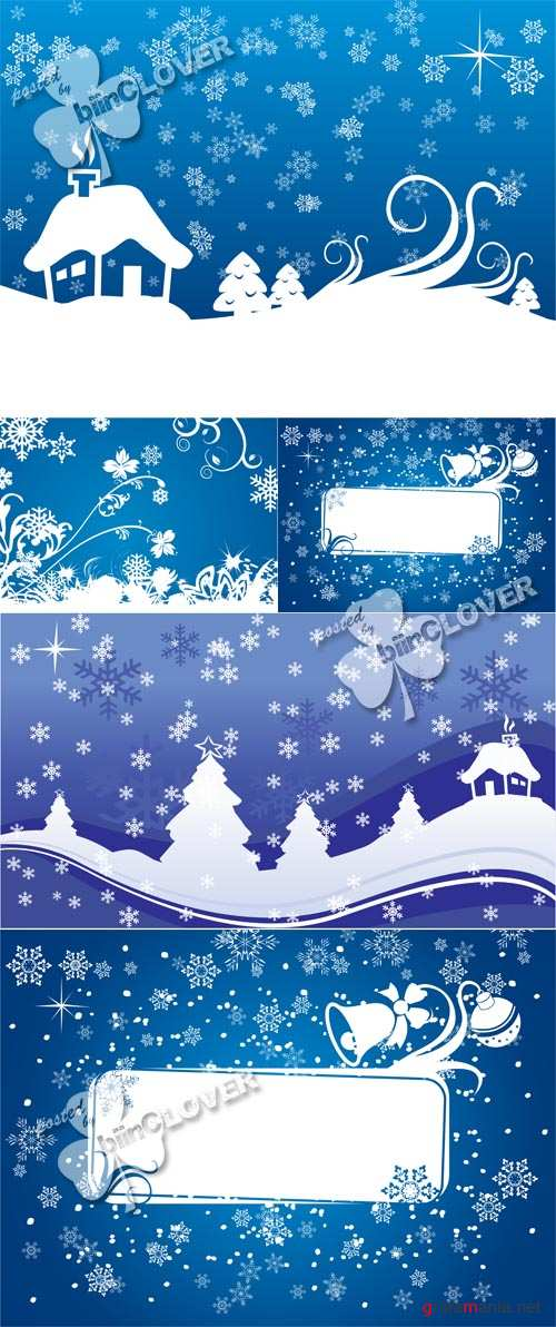 Christmas cards with snowflake 0598
