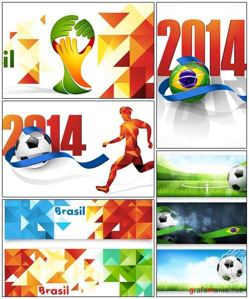 Abstract colored soccer vector backgrounds- vector stock
