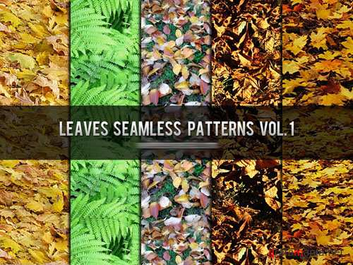 Leaves Seamless Photoshop Patterns Vol. 1