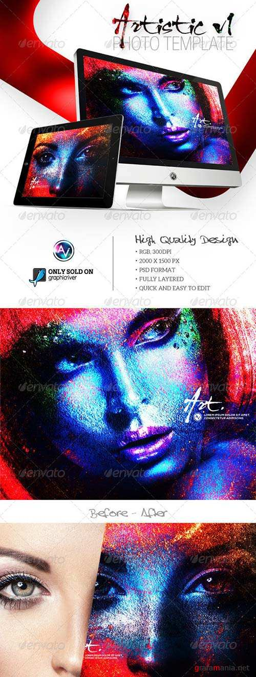GraphicRiver Artistic Photo Template V1