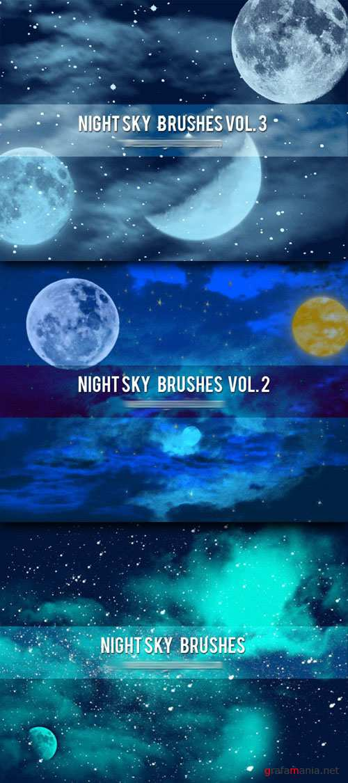 Night Sky Photoshop Brushes Collection