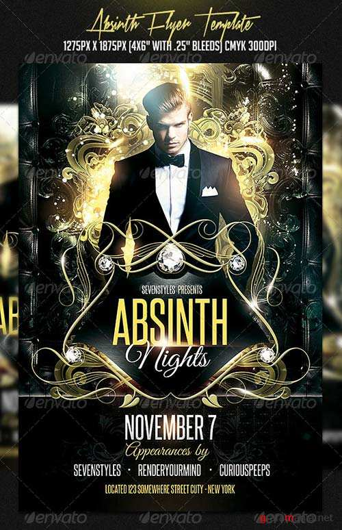 GraphicRiver Absinth Flyer Template