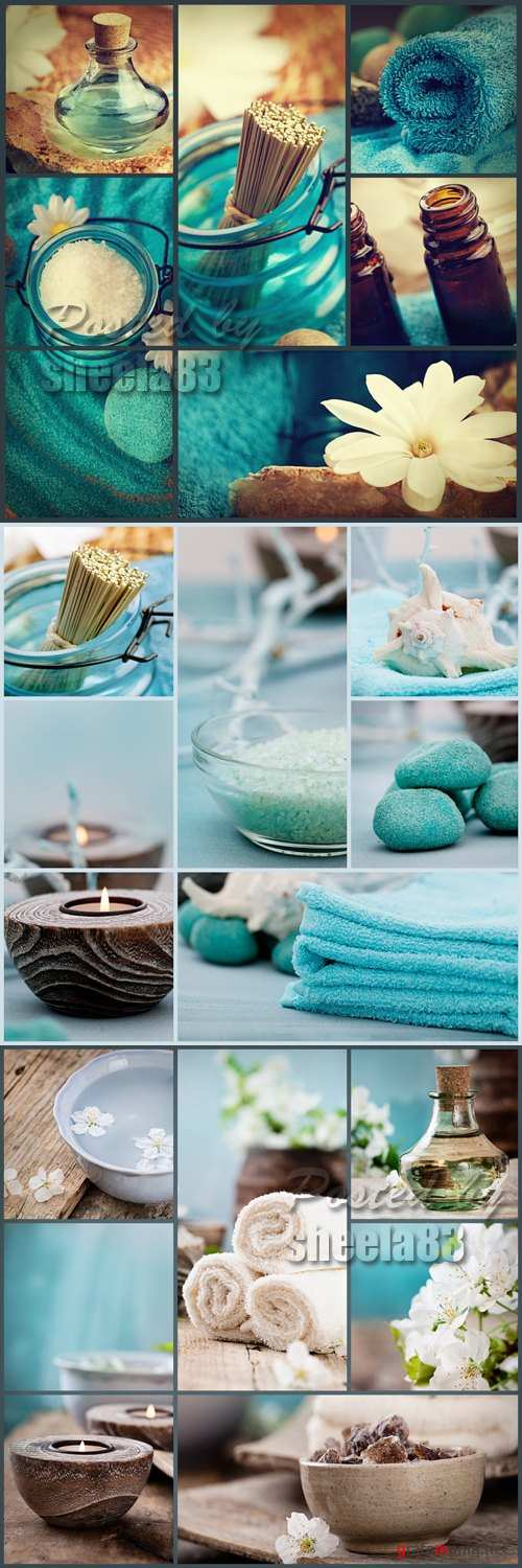 Stock Photo - Blue Spa Cards