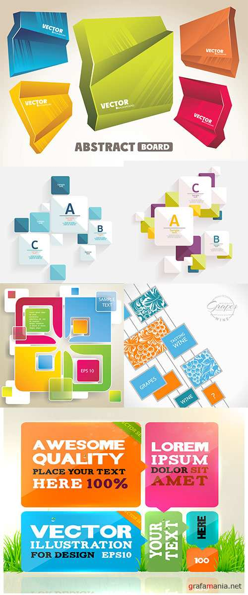 Stock: Abstract template design for business background