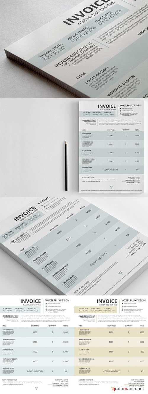 Template PSD - Professional Invoice