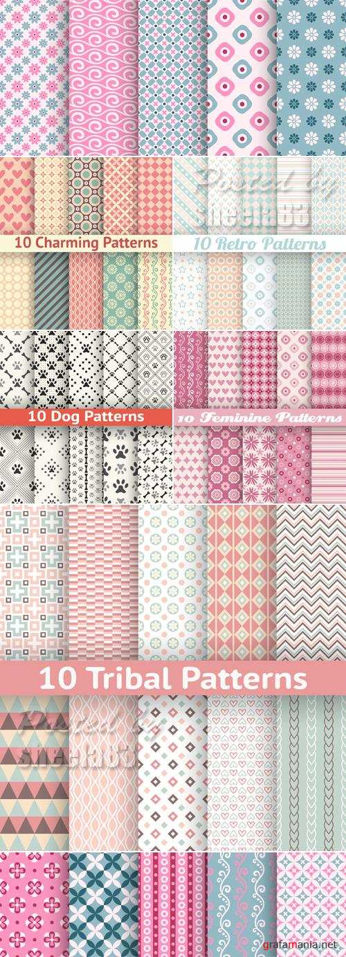 Various Seamless Patterns Vector
