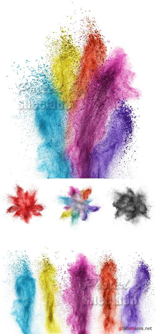 Stock Photo - Color Powder Backgrounds 3