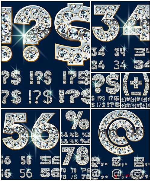 Figures with jewels - vector stock