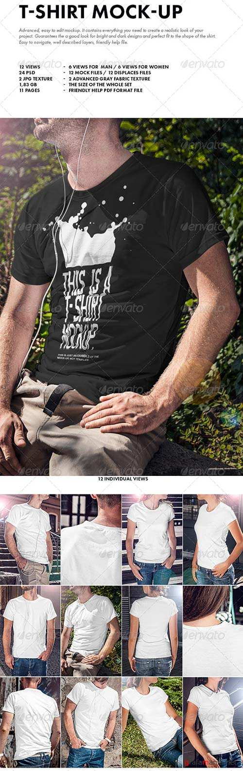 GraphicRiver T-Shirt Mock-up 8618734