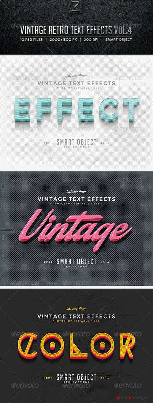 GraphicRiver Vintage Text Effects Vol.4