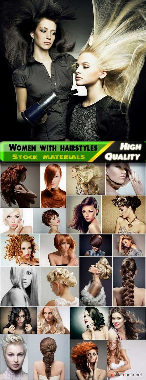 Beauty women with amazing hairstyles Stock images - 25 HQ Jpg