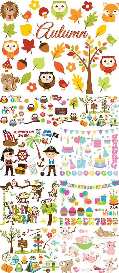 Stock: Designer baby elements vector