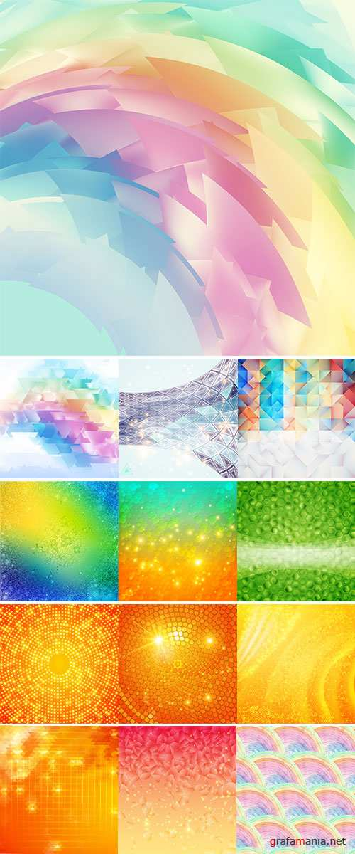 Stock: Backgrounds in the style of mosaic vector