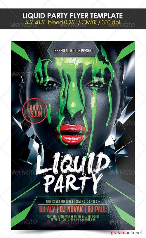 GraphicRiver Liquid Party Flyer Template