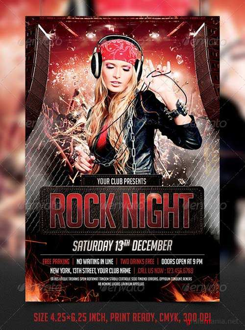 GraphicRiver Rock Night Party Flyer Template