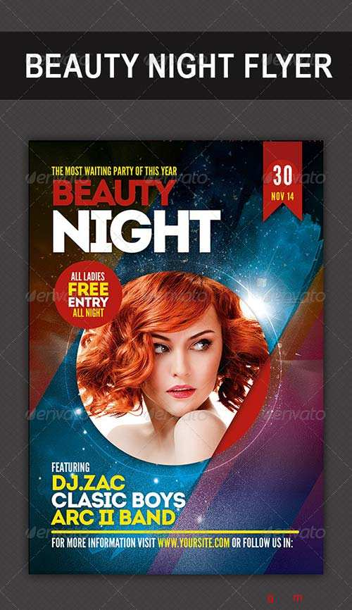 GraphicRiver Beauty Night Flyer