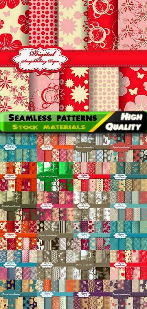 Abstract  Seamless patterns in vector set from stock #14 - 25 Eps