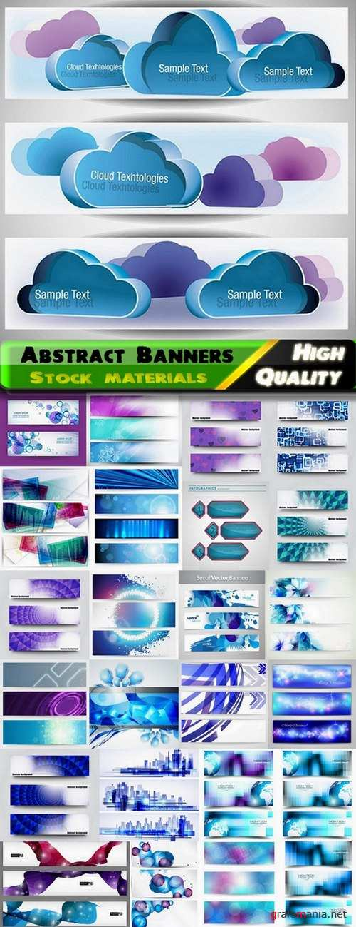 Abstract Banners in vector set from stock #8 - 25 Eps