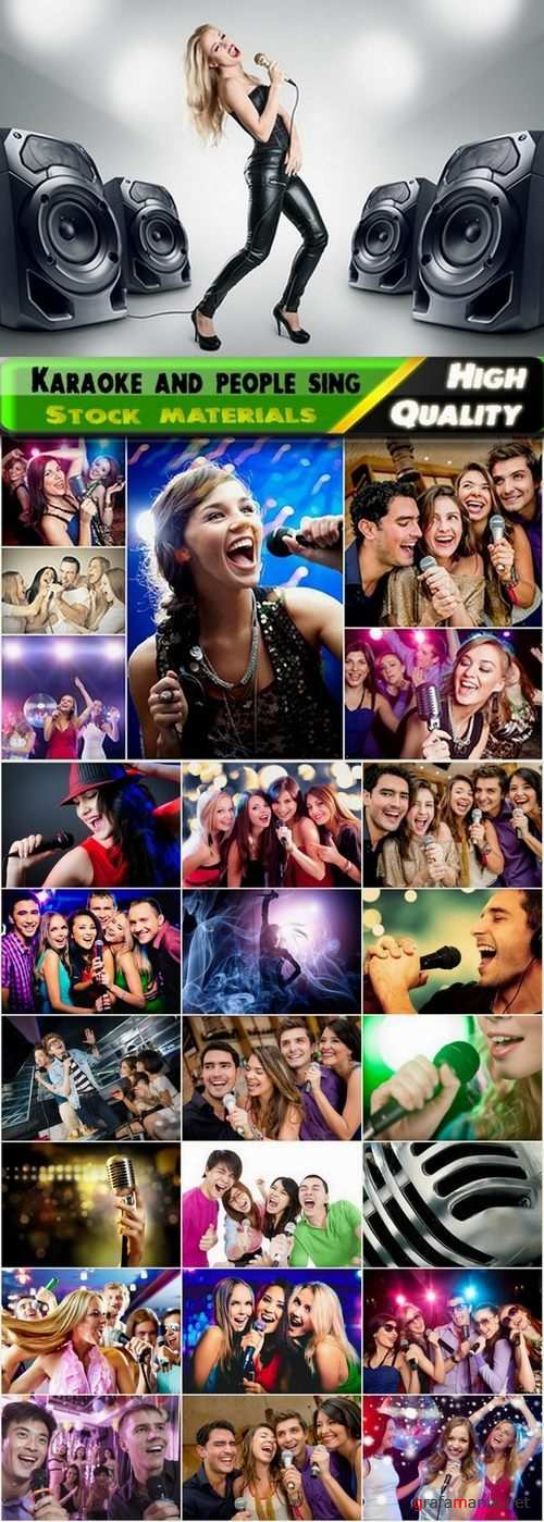 Karaoke and people sing at the party Stock images - 25 HQ Jpg