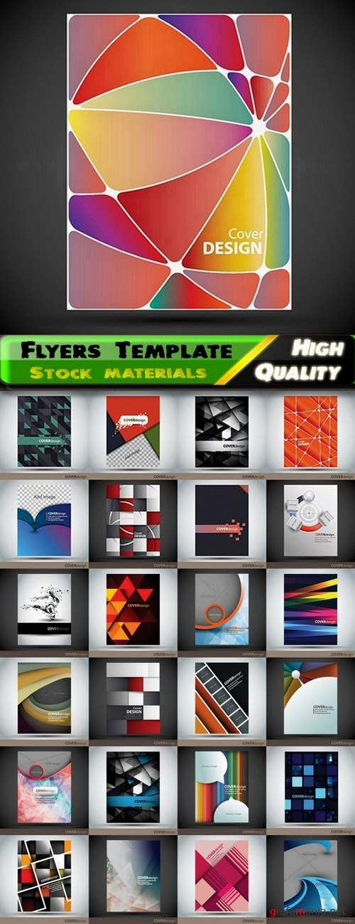 Flyers Template design Collection in vector from stock #29 - 25 Eps
