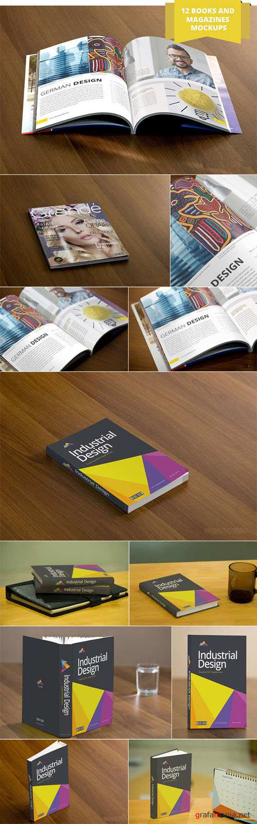 12 Books and Magazines Mockups - Zippypixels