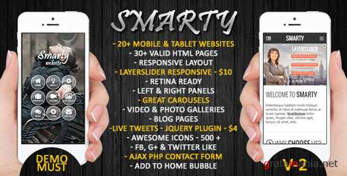 ThemeForest - Smarty | Mobile & Tablet Responsive Web Template 6486536