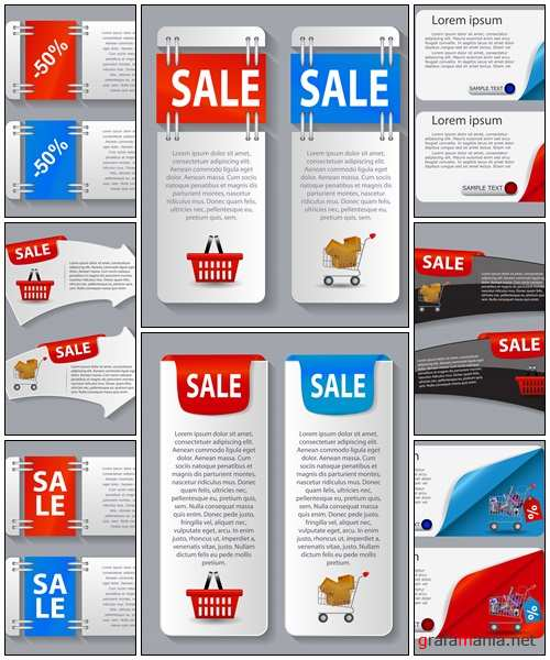 Sale banner with place for your text - vector stock