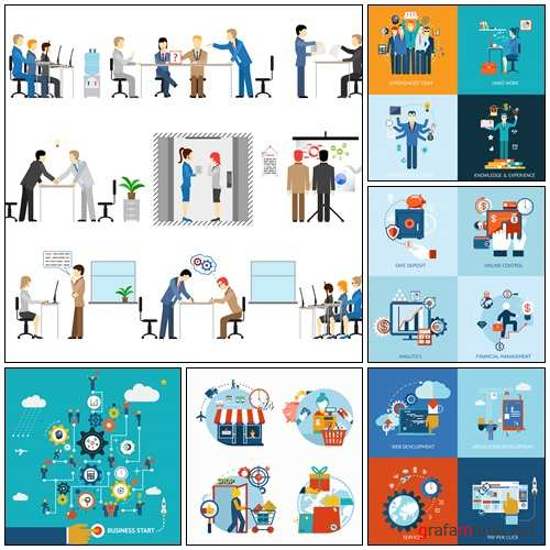 Teamwork and human resources - vector stock
