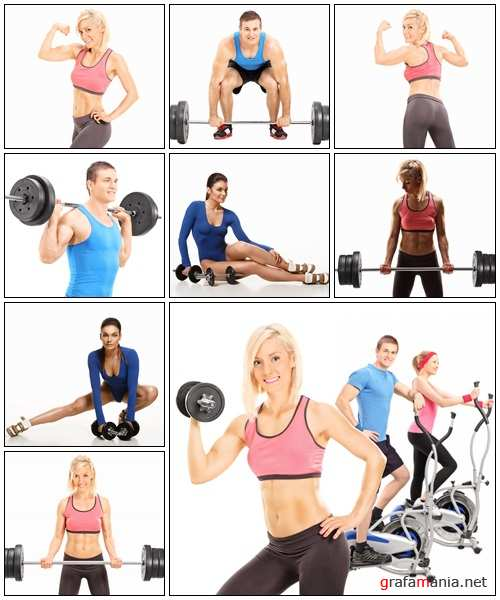 Fitness people, 5 - Stock Photo