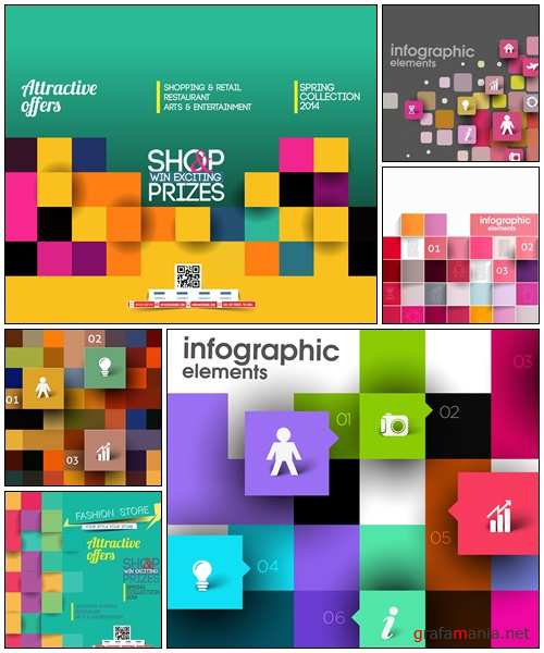Business Infographic Vector Background, 200 - vector stock
