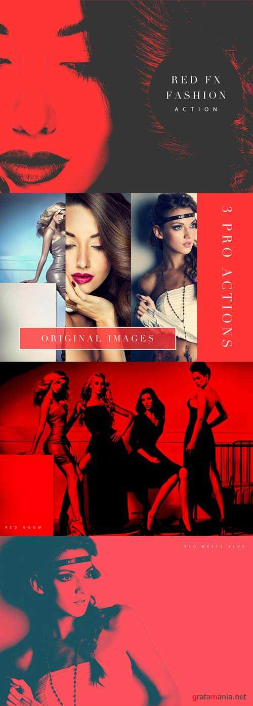 GraphicRiver Red FX Fashion (Photoshop Action)