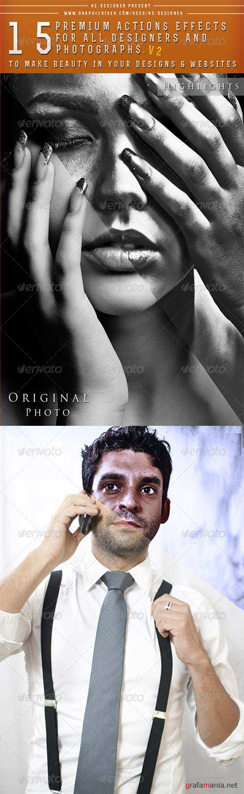 GraphicRiver 15 Premium Actions Photoshop Effects - Version 2 -