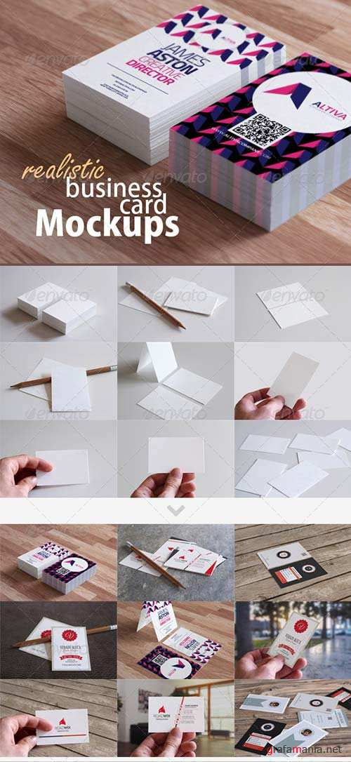GraphicRiver Realistic Business Card Mockups