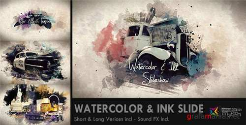Watercolor & Ink Slideshow - After Effects Project (Videohive)