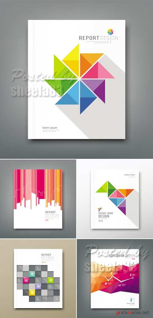 Abstract Business Templates Vector 2