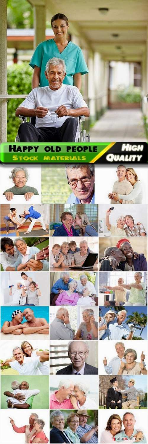 Happy old people and Care for the elderly Stock images - 25 HQ Jpg
