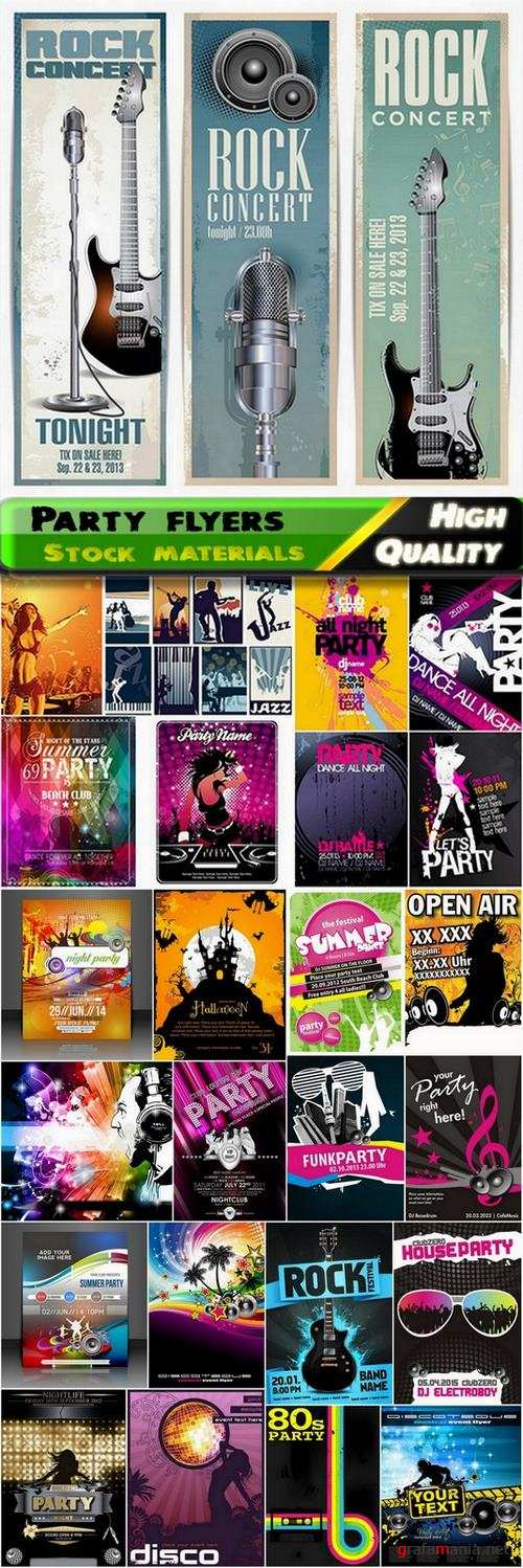 Party flyers and disco backgrounds in vector from stock - 25 Eps