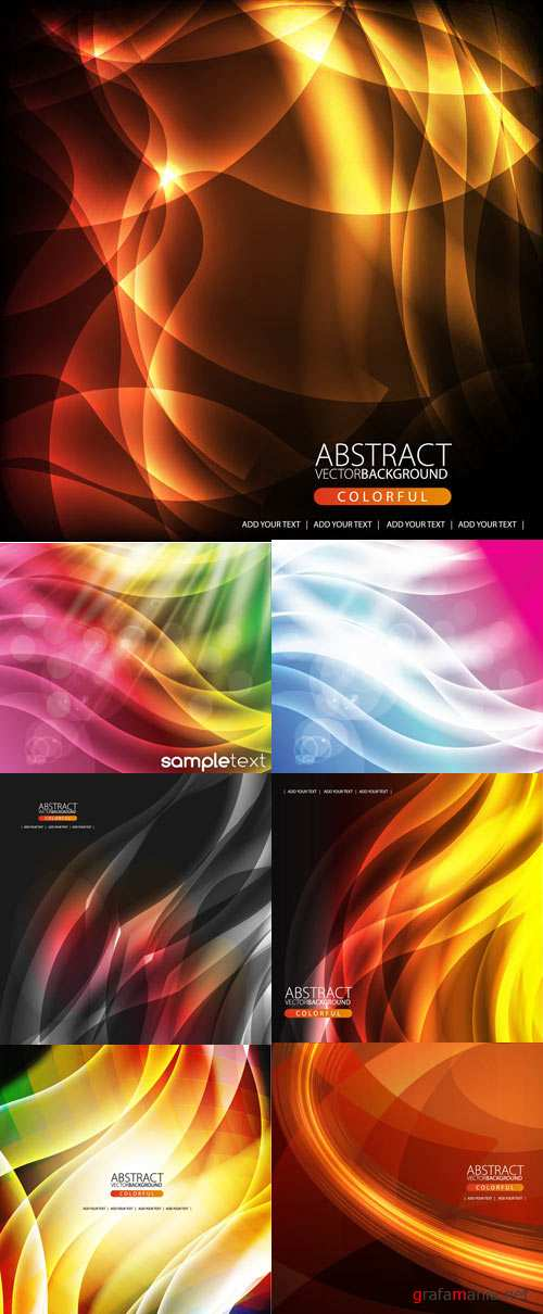 Coloreful backgrounds with abstract shinning line and fire