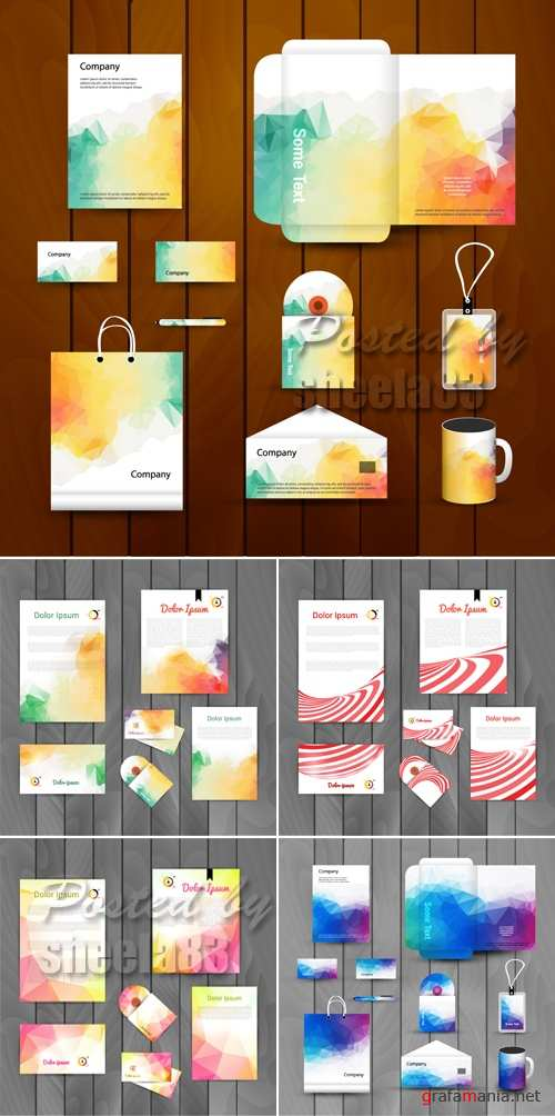Corporate Identity Templates Vector 3