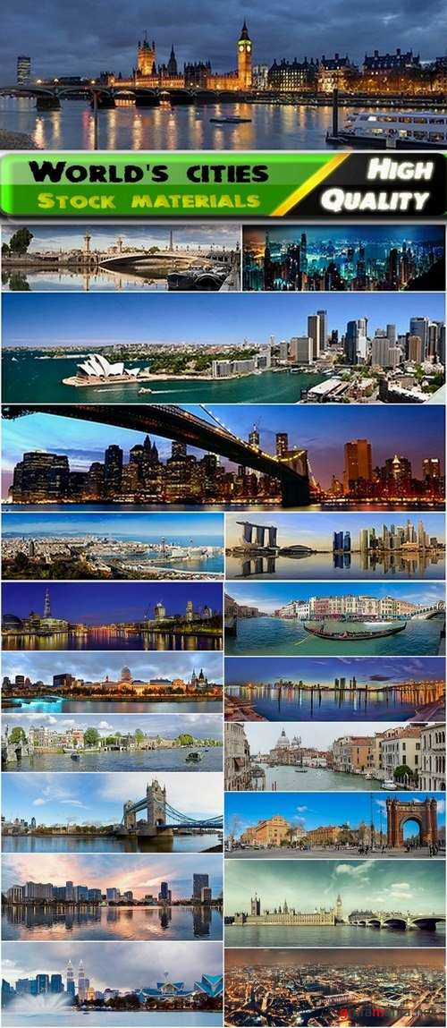 Panoramas of the world's cities Stock images - 25 HQ Jpg