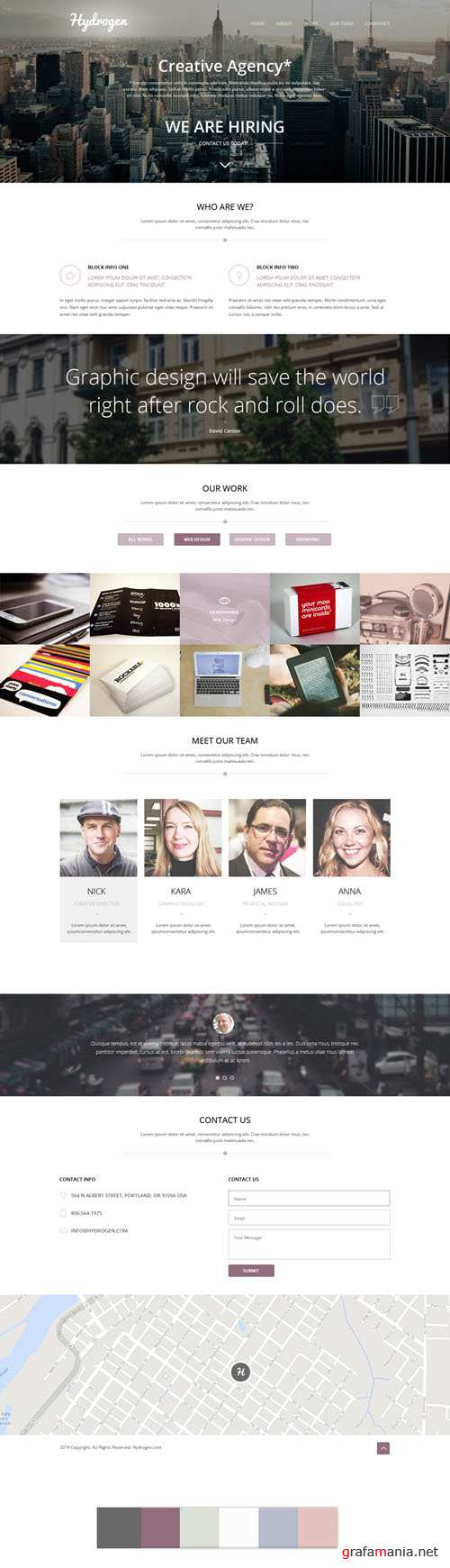 Hydrogen – HTML5 Responsive One Page Template