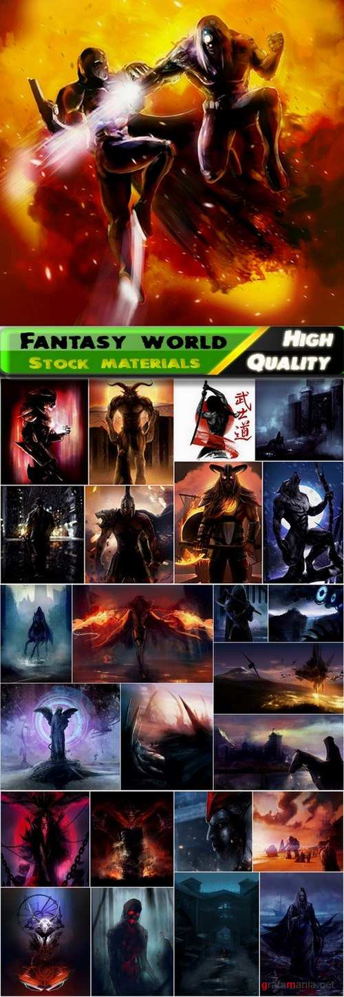 Fantasy world and fantasy characters Stock images - 25 HQ Jpg
