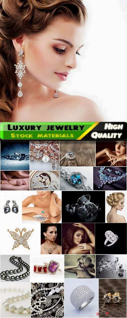 Luxury jewelry and beautiful girls in jewelry Stock images - 25 HQ Jpg