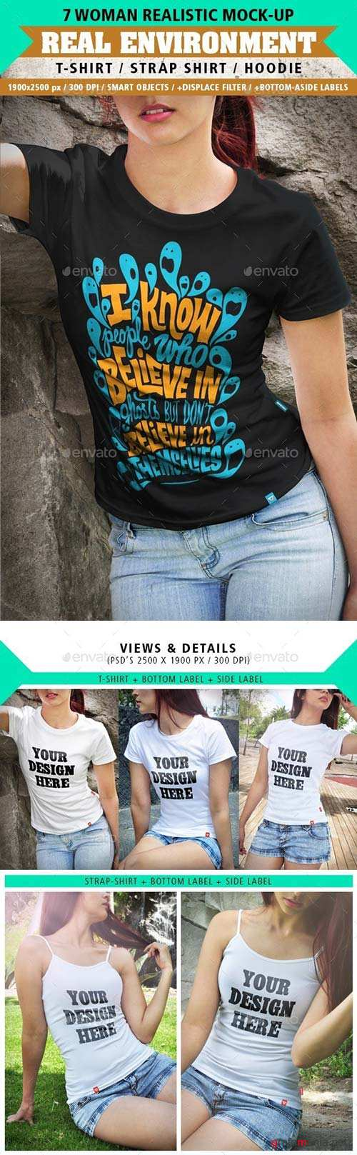 GraphicRiver 7 Realistic Women Clothing Mock-Ups