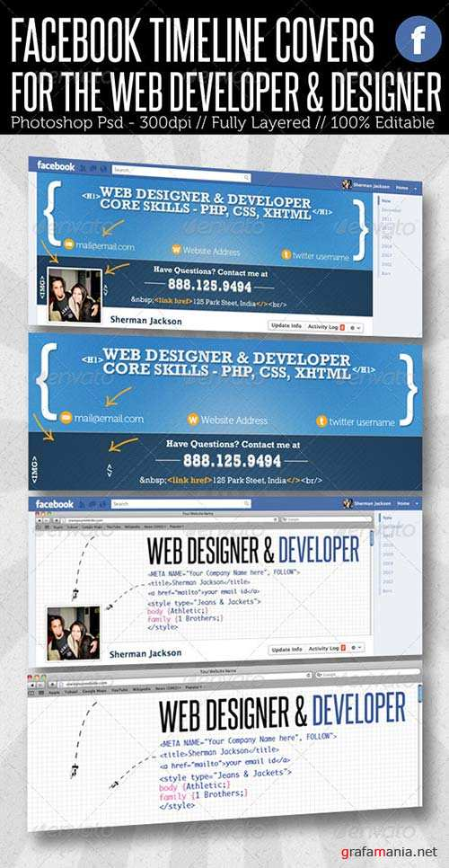 GraphicRiver Facebook Timeline Cover - Web Developer & Designer