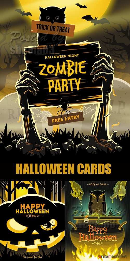 Halloween 2014 Backgrounds Vector