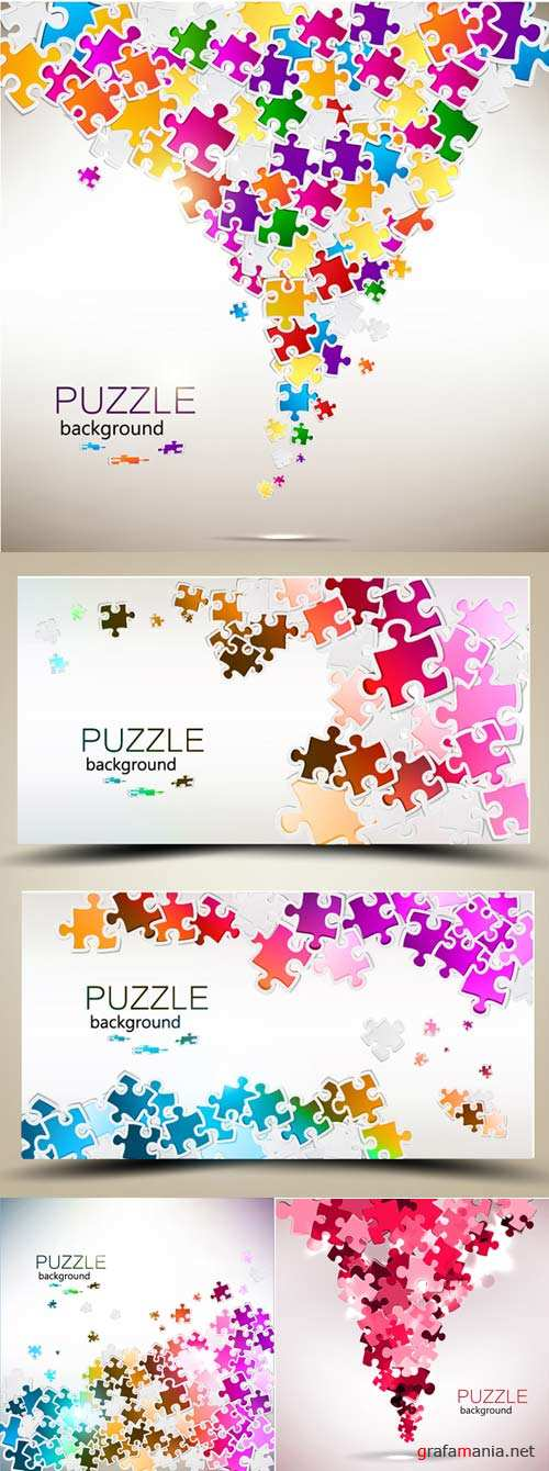 Vector backgrounds puzzles