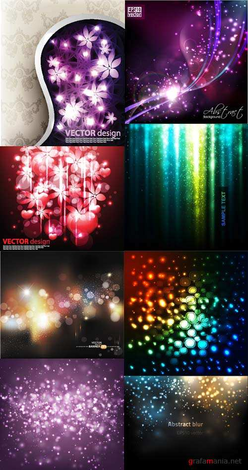 Abstract glowing vector backgrounds
